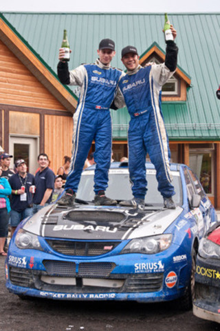 Subaru Rally Team Canada claims second at Rallye Baie des Chaleurs. www.worldrallysport.com (CNW Group/Subaru Canada Inc.)