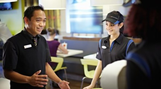 McDonald's Canada hired a record-breaking 8,900 new employees during its National Hiring Day event on April 6, 2016, exceeding its goal of 7,000 new hires by nearly 30 per cent. (CNW Group/McDonald's Canada)