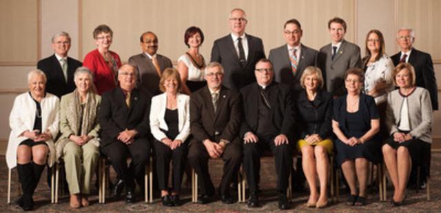 2013 OCSTA Board of Directors (CNW Group/Ontario Catholic School Trustees' Association)