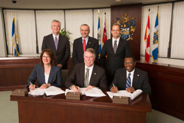 Today, the Chartered Professional Accountants of Ontario and the Certified General Accountants of Ontario signed a unification agreement, the second last step to uniting this province's accounting profession under the CPA designation, bringing to a close significant collaboration and dedication to building a stronger unified accounting profession, both within this province and across Canada. (CNW Group/Certified General Accountants of Ontario)
