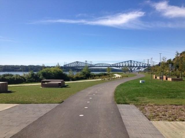 Prolongement de la promenade Samuel-De Champlain vers l'ouest. (Groupe CNW/Commission de la capitale nationale du Québec (CCNQ))