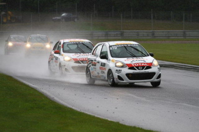 Two races and two victories for Xavier Coupal this weekend (CNW Group/Nissan Canada Inc.)