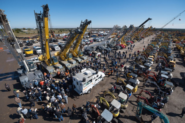 Close to 50 cranes were sold in the Ritchie Bros. unreserved public auction in Orlando, Florida (February 16 - 20, 2015). (CNW Group/Ritchie Bros. Auctioneers)