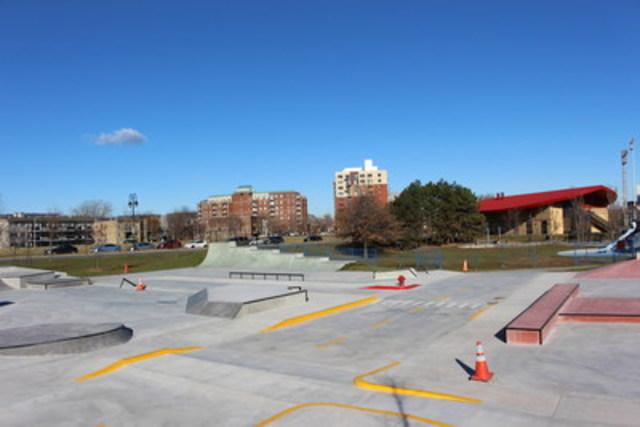 Un skatepark urbain unique en son genre ouvre à Verdun. (Groupe CNW/Ville de Montréal - Arrondissement de Verdun)