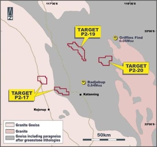 Figure 4.  Location plan of Chalice Gold Mines Ltd tenement applications, Western Gneiss terrane, Western Australia. (CNW Group/Chalice Gold Mines Limited)