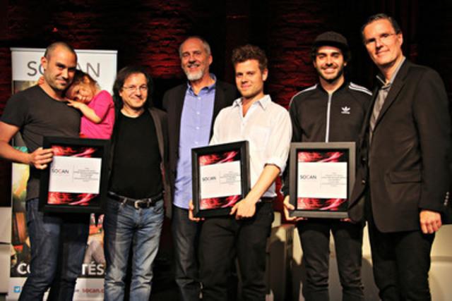 Le 11 juin 2015, à L'Astral, à Montréal, la SOCAN a rendu hommage aux auteurs-compositeurs Alex Nevsky, Gabriel Gratton et Laurence Lafond-Beaulne ainsi qu'à Avenue Éditorial dont la chanson « Fanny » a atteint la première position du palmarès Correspondants le 1er juin 2015. Sur la photo, de gauche à droite: Guillaume Lafrance (Avenue Éditorial), Stan Meissner, Président (SOCAN), Michael McCarty, Chef, Affaires des membres et Développement (SOCAN), Gabriel Gratton (Coyote Records), Alex Nevsky et Eric Baptiste, Chef de la direction (SOCAN). (Groupe CNW/SOCAN)