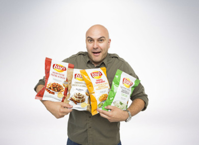Flavour expert James Cunningham reveals the 2014 Lay's Do Us a Flavour finalists (CNW Group/PepsiCo Canada)