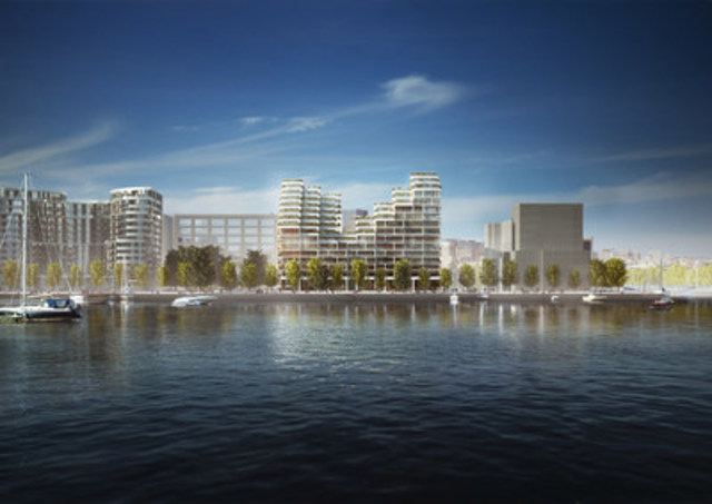 Bayside Toronto - Proposed Rendering for Phase Three, Bayside Elevation (Provided by 3XN) (CNW Group/Tridel)