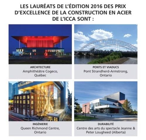 La construction en acier mise à l'honneur par les Prix d'excellence 2016 de l'ICCA (Groupe CNW/Institut Canadien de la construction en acier)