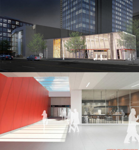 Concept for Yonge Street Entrance, Interior Concourse (CNW Group/Metrolinx)