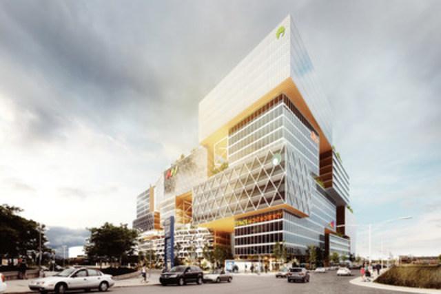 Espace Montmorency in Laval : a Fonds immobilier de solidarité FTQ, MONTONI, Claridge project (credit: Sid Lee Architecture) (CNW Group/Fonds de solidarité FTQ)