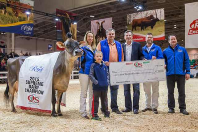 2015 Dairy Royal Champion at The Royal Agricultural Winter Fair in Toronto. (CNW Group/Royal Agricultural Winter Fair)
