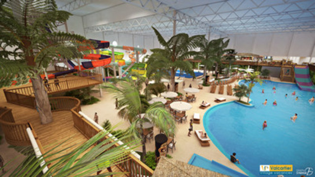 Valcartier Vacation Village's indoor waterpark. (CNW Group/Valcartier Vacation Village)