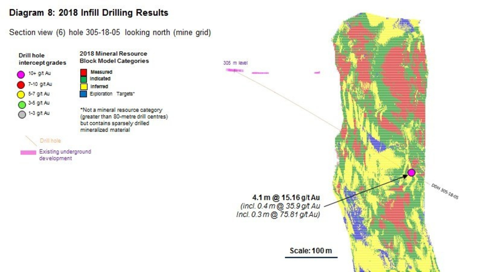 Diagram 8 : 2018 Infill Drilling Results