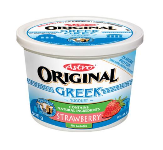 Astro Original Greek Yogourt - Strawberry (CNW Group/Parmalat Canada)