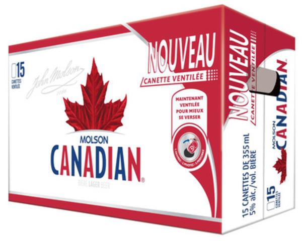 Des canettes ventilées de 355 ml offertes en emballages de quinze seront également disponibles en Ontario et dans les provinces de l'Atlantique en août. Cette innovation devrait connaître une expansion en 2014. (Groupe CNW/Molson Coors Canada)