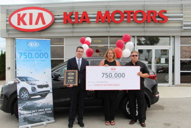 Kia Canada - 750,000th Sale Celebration (CNW Group/KIA Canada Inc.)