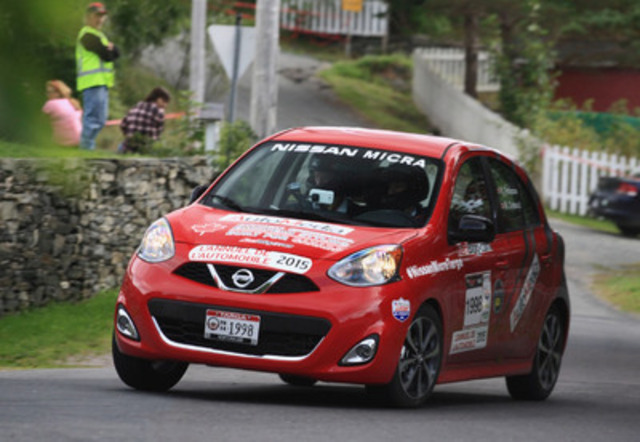 The Nissan JUKE NISMO RS sport crossover made history as the first crossover to compete in Targa Newfoundland while the two all-new Nissan Micras were the first vehicles to compete with Canada's lowest starting M.S.R.P. (CNW Group/Nissan Canada Inc.)