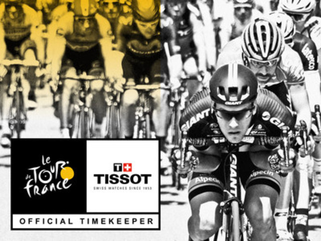 Tissot, Official Timekeeper of the Tour de France once again (CNW Group/TISSOT S.A.)