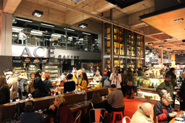 """Today customers enjoyed the opening of Loblaws at Maple Leaf Gardens, Toronto's new crown jewel of grocery stores bringing a vibrant food shopping experience to this Canadian landmark."""" (CNW Group/Loblaw Companies Limited)"""
