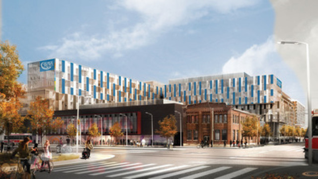Rendering of new George Brown College Residence (CNW Group/Campus Living Centres)