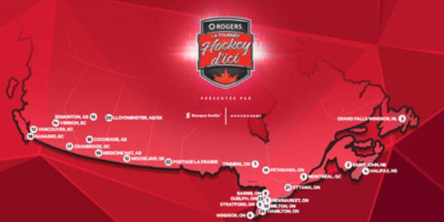 « La Tournée Hockey d'ici de Rogers – la plus grande fête du hockey qui soit au Canada – est sur le point de reprendre pour s'arrêter dans 24 nouvelles collectivités canadiennes durant la saison 2016‑2017 de la LNH » (Groupe CNW/Rogers Communications Inc.)