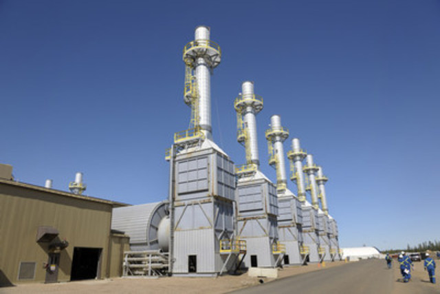 Steam generators at Cenovus's Foster Creek project in northern Alberta. The project uses a process called ...