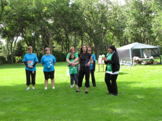 Catherine Abenstein, Regina Freedom Run organizer at the 2010 Freedom Run. (CNW Group/The Cash Store Financial Services Inc.)