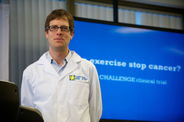Dr. Chris Booth, lead investigator of the CHALLENGE clinical trial. (CNW Group/Canadian Cancer Society (Ontario Division))