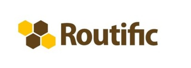 Routific's logo pays tribute to honey bees and their beautiful compact honeycombs, an amazing example of space efficiency and architectural genius. (CNW Group/Routific)
