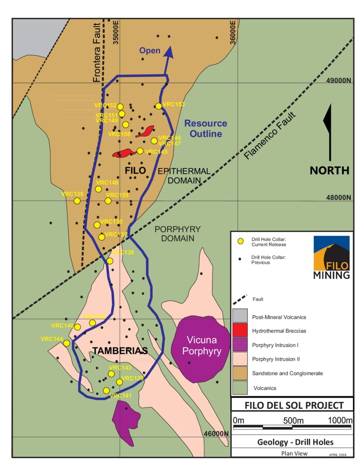 Filo Drill Hole Location Map
