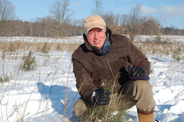 Trees Ontario's Green Leader, Mark Cullen on his property in Scugog, Ontario. (CNW Group/Forests Ontario)