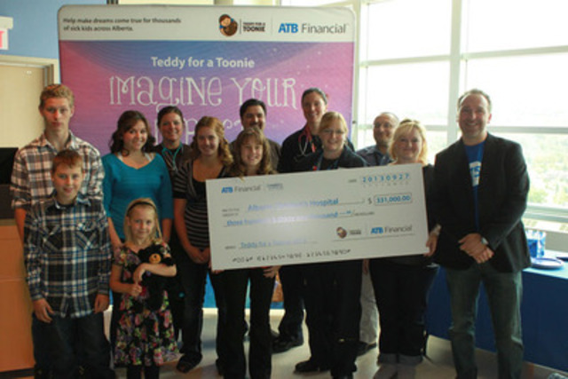 ATB Financial presents $331,000 to Alberta Children's Hospital, Sept 27 2013 (CNW Group/Alberta Children's Hospital Foundation)
