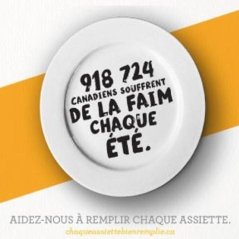 #chaqueassiettebienremplie (Groupe CNW/Banques alimentaires Canada)