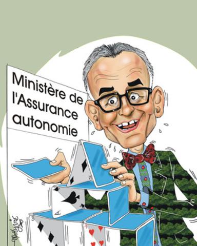 Caricature du ministre de la Santé et des Services sociaux et ministre responsable des Aînés du Québec, Réjean Hébert. (Groupe CNW/AQRP - Association québécoise des retraité(e)s des secteurs public et parapublic)