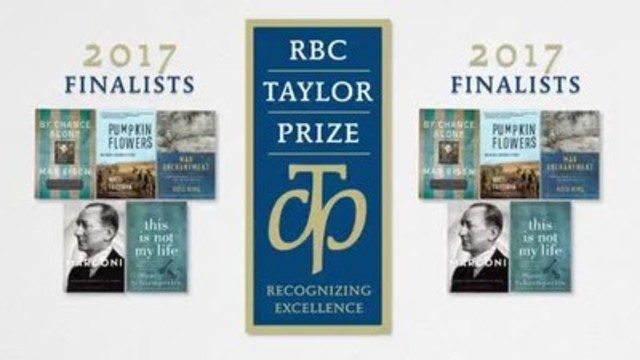 2017 RBC Taylor Prize finalists (CNW Group/RBC Taylor Prize)