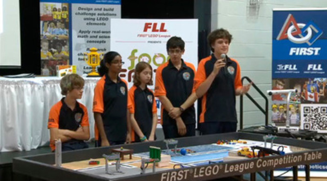 Video: FIRST® LEGO® League 2011 FOOD FACTOR™ Challenge Launch in Ontario