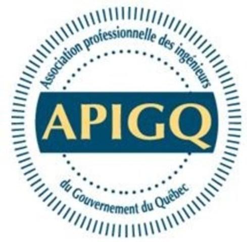 Logo : Association professionnelle des ingénieurs du gouvernement du Québec (APIGQ) (Groupe CNW/Association professionnelle des ingénieurs du Gouvernement du Québec)
