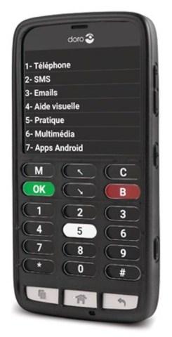 Bell ajoute à sa gamme d'appareils mobiles favorisant l'accessibilité le téléphone intelligent Doro 824C destiné aux clients aveugles (Groupe CNW/Bell Canada)