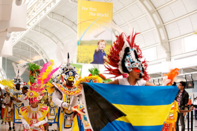 Toronto Pearson brings the Caribbean in-terminal, kicking off Scotiabank Caribbean Carnival Toronto weekend with musical performances and a celebratory parade through Terminals 1 & 3. (CNW Group/Toronto Pearson International Airport)