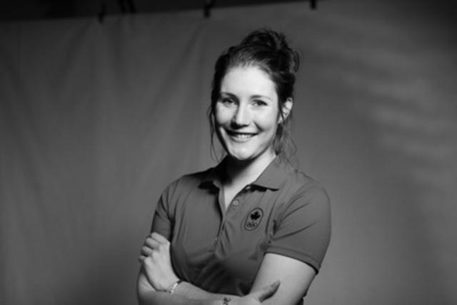 Anastasia Bucsis, olympienne de Sotchi 2014, ambassadrice d'#UneÉquipe (Groupe CNW/COC)