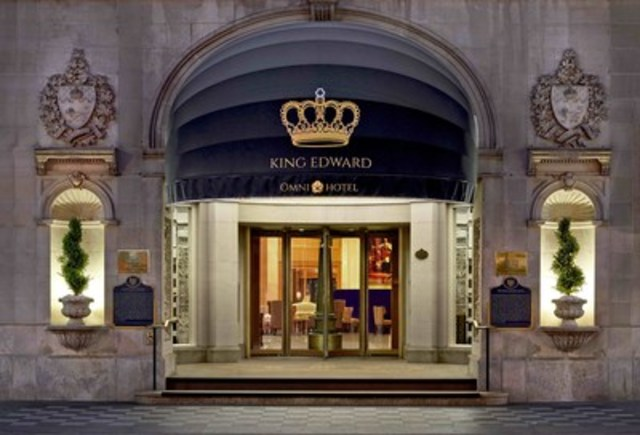 The iconic front entrance of The Omni King Edward Hotel, 37 King St East, Toronto, ON (CNW Group/The Omni King Edward Hotel)