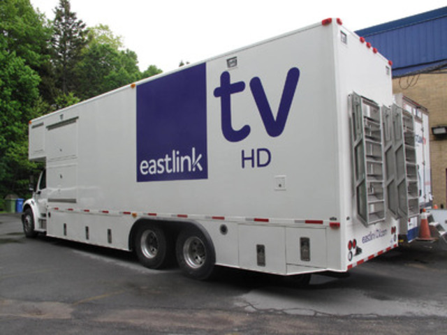 Eastlink TV's new mobile HD production vehicle. (CNW Group/EASTLINK)
