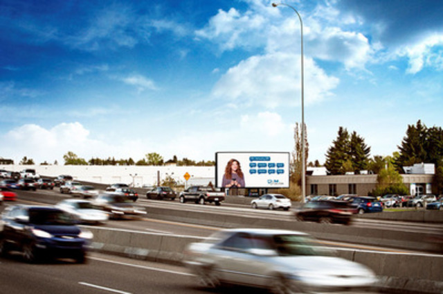 Astral Out-of-Home large-format Digital face in Calgary. (CNW Group/Bell Media) (CNW Group/Astral Out-of-Home)