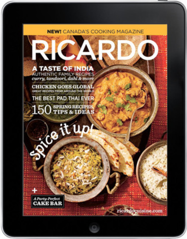 RICARDO magazine launches new tablet editions on Next Issue (CNW Group/Ricardo Media)