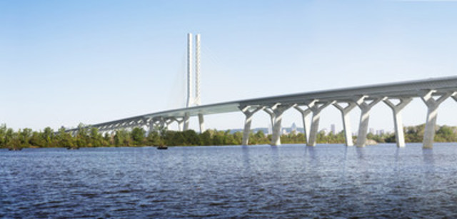 Rendering of New Champlain Bridge (CNW Group/Canadian Council for Public-Private Partnerships)