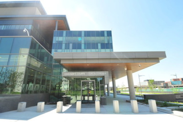 Ontario's Forensic Services and Coroner's Complex partners demonstrated innovative approaches to facilities management which added great value to the project as a whole. (CNW Group/Canadian Council for Public-Private Partnerships)