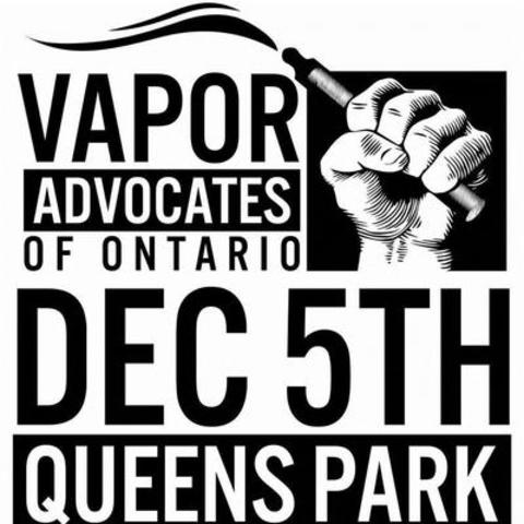 Vaping Community Protest at Queen's Park (CNW Group/Vapors Advocates of Ontario)