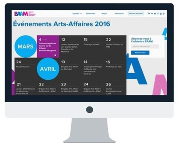 Calendrier Art-Affaires 2016 (Groupe CNW/Brigade Arts Affaires de Montréal (BAAM))