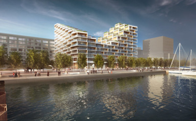 Bayside Toronto - Proposed Rendering for Phase Three, Waterfront (Provided by 3XN) (CNW Group/Tridel)
